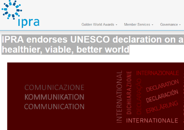 IPRA endorses UNESCO