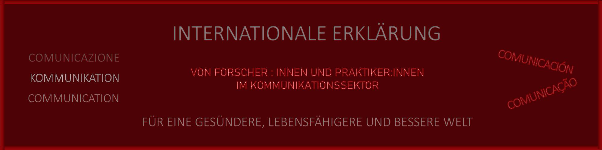 Déclaration internationale en russe.